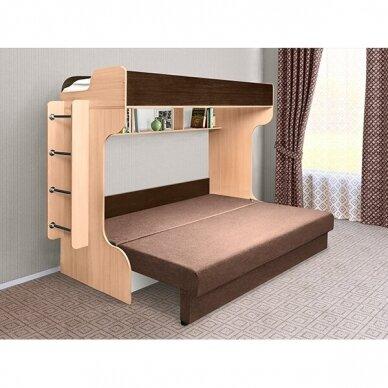 Dviejų aukštų lova ELIZA GOLD (su čiužiniu) 7