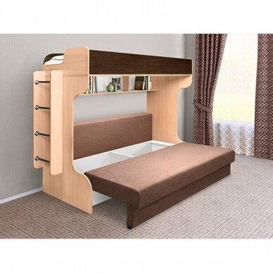 Dviejų aukštų lova ELIZA GOLD (su čiužiniu) 6
