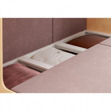 Kampinė dviejų aukštų lova ELIZA GOLD (be čiužinio) 6