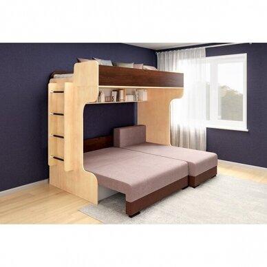Kampinė dviejų aukštų lova ELIZA GOLD (su čiužiniu) 5