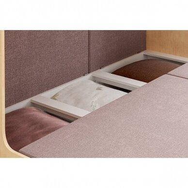Kampinė dviejų aukštų lova ELIZA GOLD (su čiužiniu) 6