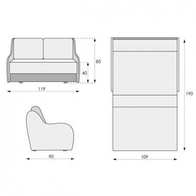 Miegamasis dvigulis fotelis JUNIOR 8