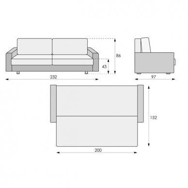 Sofa-lova PALERMO 8