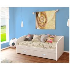 Viengulė lova ELIZA (su stalčiais, su čiužiniu)