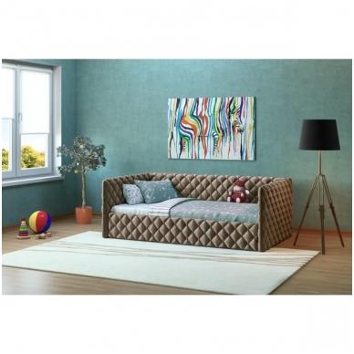 Viengulė lova ELIZA SOFT 900 (su čiužiniu) 2
